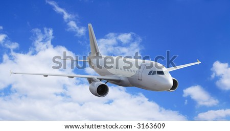 Flying over the sky - stock photo