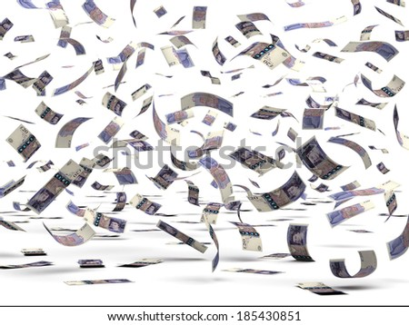 Flying Pounds (isolated with clipping path) - stock photo