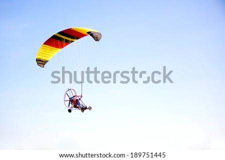 flying sail plane - stock photo