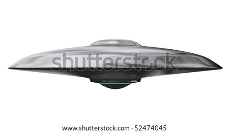 flying saucer - stock photo