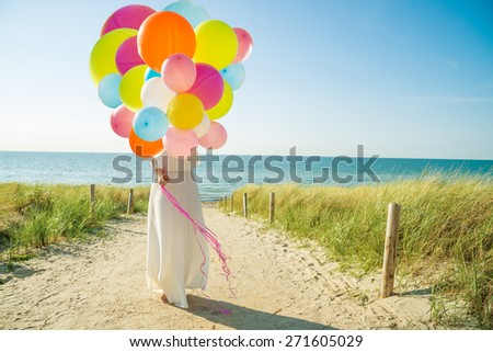 flying through summertime - stock photo