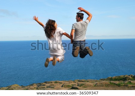 Flying together - stock photo