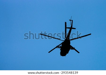 flying transport helicopter