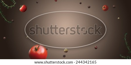 flying vegetables food white splash concept billboard template dynamics