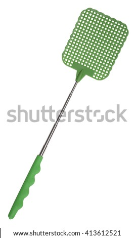 Flyswatter fly swatter device for fly killing - stock photo