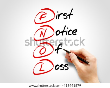 FNOL - First Notice Of Loss, acronym business concept - stock photo