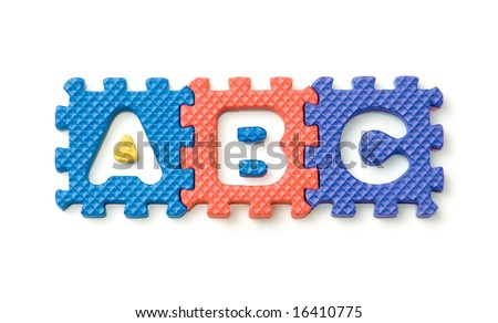 foam block letters, please check out my portfolio for more - stock photo