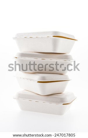 Foam box isolated on white background