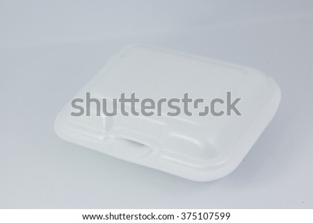 foam box , white background