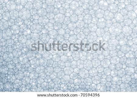 Foam bubbles macro texture - stock photo