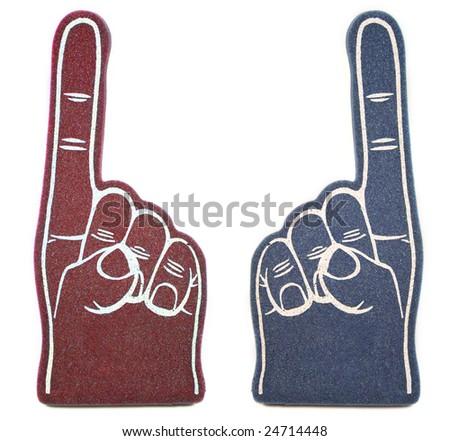 Foam Finger Rivals - stock photo