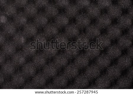 Foam rubber acoustic background