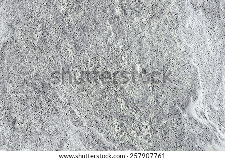 Foam with small bubbles structure - stock photo