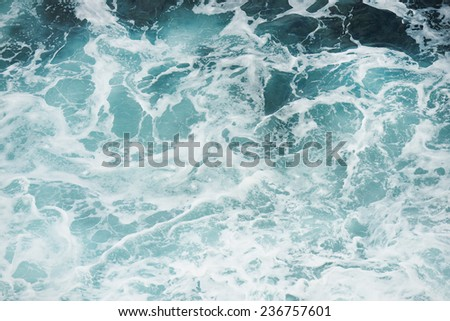 Foamy ocean background - stock photo