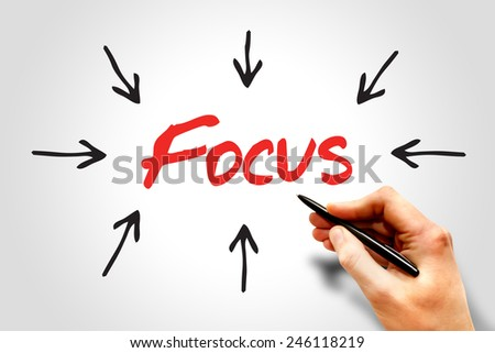 Focus arrows directions, business concept  - stock photo