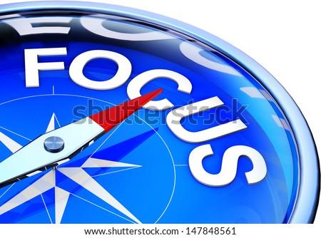 focus compass - stock photo