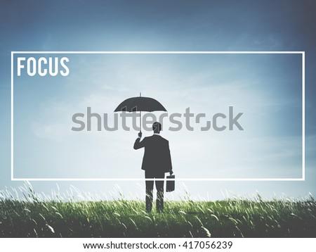 Focus Determine Mission Target Vision Concept - stock photo