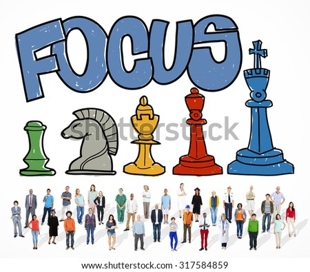 Focus Focal Concentration Attention Concept - stock photo