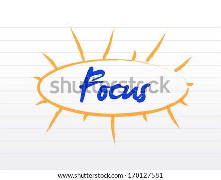 focus model illustration design over a white background - stock photo