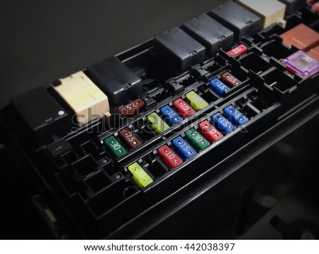 focus car fuse box low key stock photo (royalty free) 442038397 2003 lincoln town car fuse box diagram focus of car fuse box in low key light , control engine lighting of car