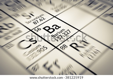 Focus on Barium Chemical Element from the Mendeleev periodic table