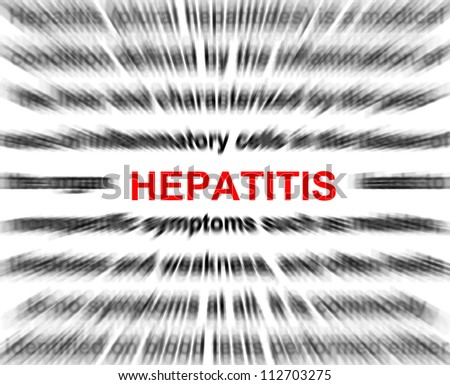 focus on hepatitis blur radial background abstract. - stock photo