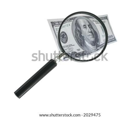 focus on money - stock photo