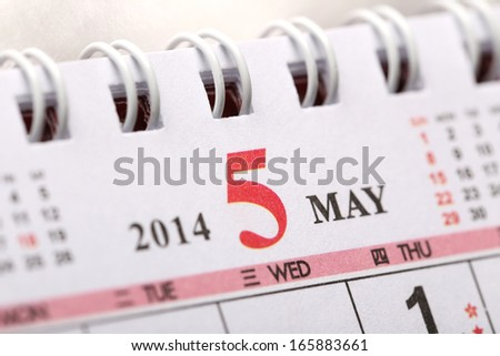 Focus on New year of May with Chinese style binder calendar