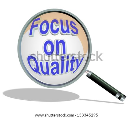 focus on quality glass magnify - stock photo