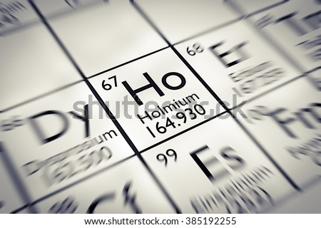 Focus on rare earth Holmium Chemical Element