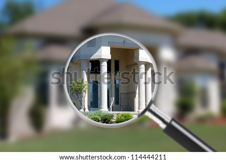 Focus on real estate. Great for real estate ads - stock photo