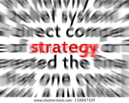Focus on strategy - stock photo