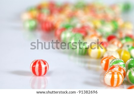 focus on the back of the beautiful image of a colored sugar - stock photo