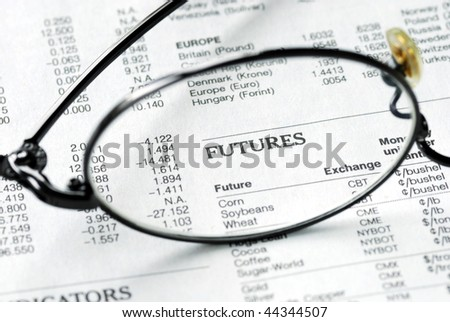 Focus on the futures market also concept of the future - stock photo