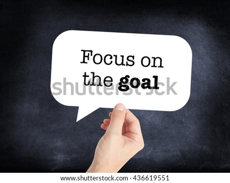 Focus on the goal as a concept - stock photo