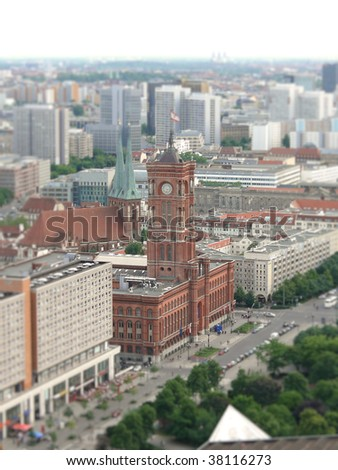 Focus on the Town Hall of Berlin - stock photo
