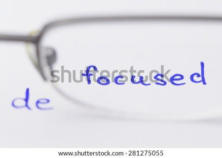 focused defocused - stock photo