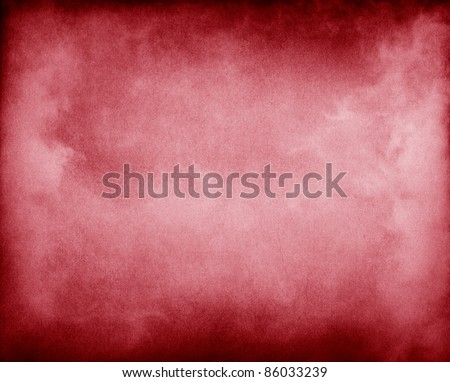 Fog and clouds on a red paper background.  Image displays a pleasing paper grain and texture at 100%. - stock photo