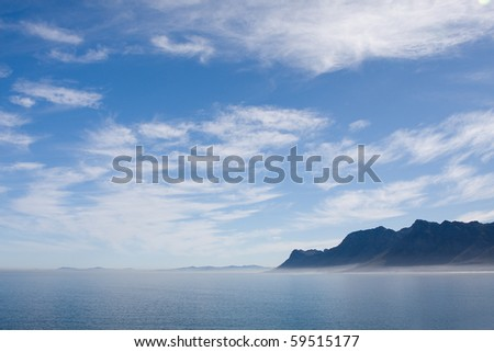 Fog in Betty's Bay (South Africa).