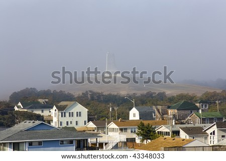 Foggy morning over Kitty Hawk, North Carolina