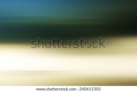 Foggy morning with long exposure effect, motion blurred - stock photo
