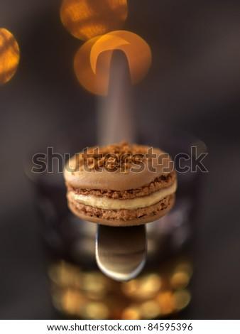 Foie gras macaroon - stock photo
