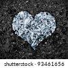 Foil heart - stock photo