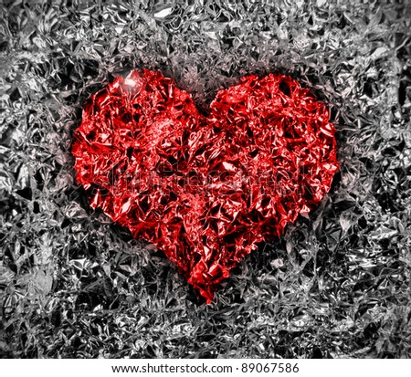 Foil heart - stock photo