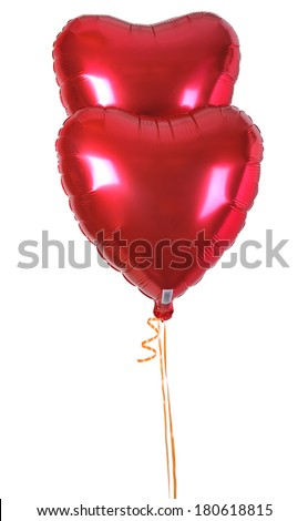 Foil Heart colorful balloons  - stock photo