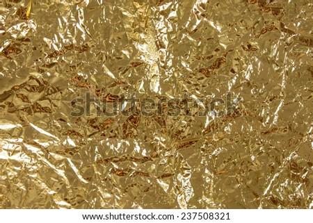 foil yellow - stock photo
