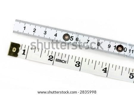 foldable tape Measure and tape Measure with white background