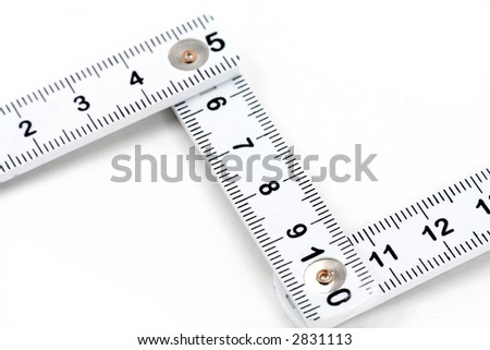 foldable tape Measure with white background