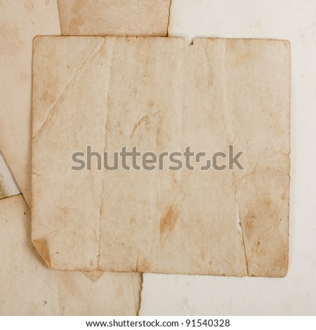 Folded grunge paper, vintage background - stock photo