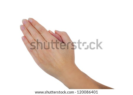 folded hands - stock photo